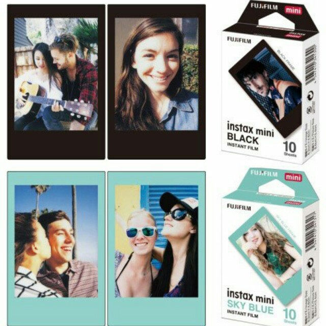 Black + Sky Blue Fujifilm Refill Instax Mini Polaroid