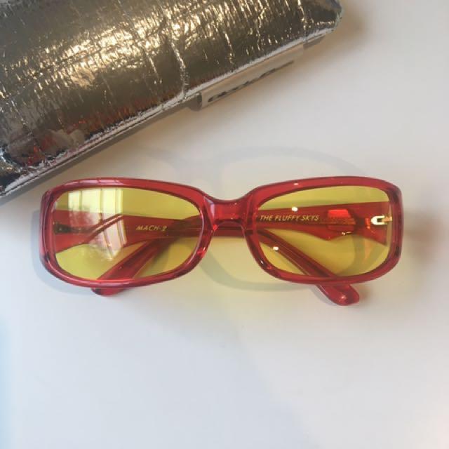 BLACK FLY 90's Original Yellow Glasses
