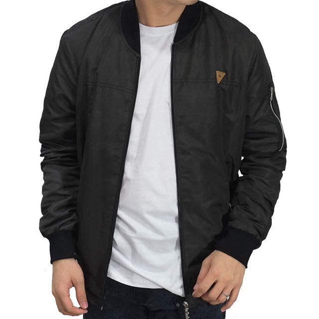 Bomber Jacket Parachute Basic Black