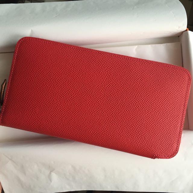 Bonjour Paris羅馬購入Hermes九重葛紅Bougainvillier絲巾長夾