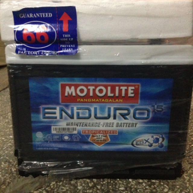 Brand New Car Battery - Motolite Enduro