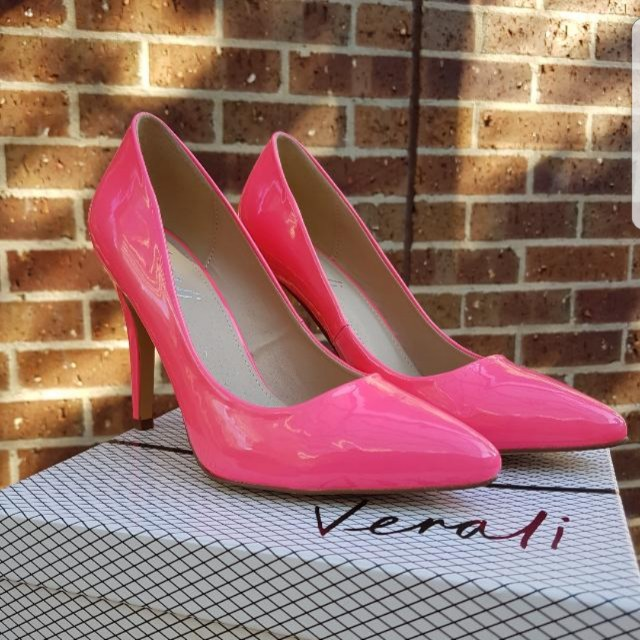 Brand New Neon Pink High Heels Size 10