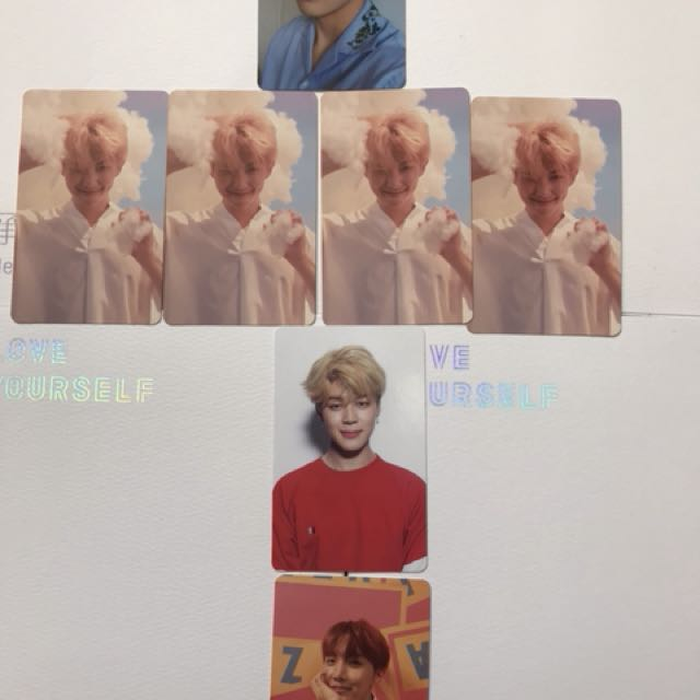 Bts love yourself photo cards