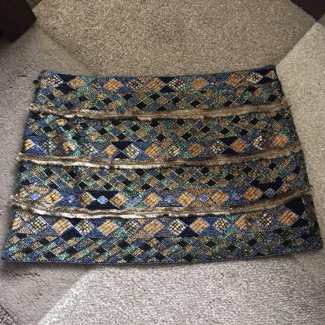 Camilla Beaded Mini Skirt