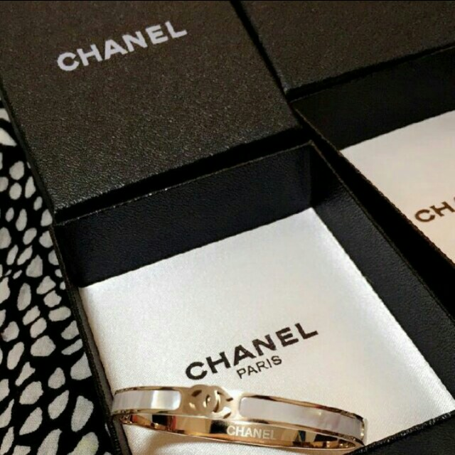 Chanel Gold and Marble Bangle / Bracelet
