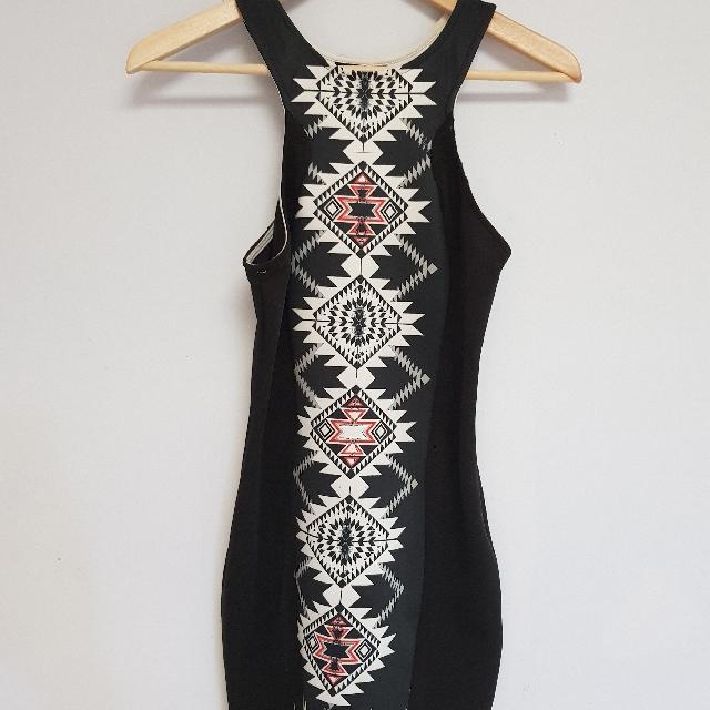CHICABOOTI geometric dress size S