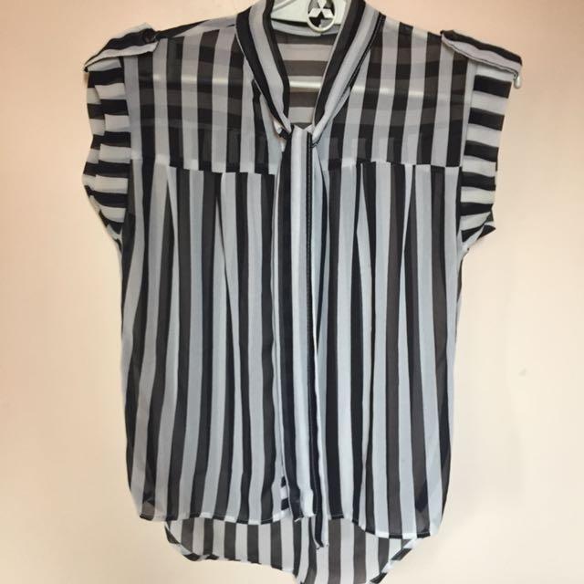 Chiffon stripes blouse👚