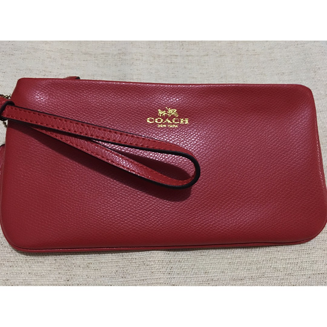 Coach Large Crossgrain Wristlet/Wallet