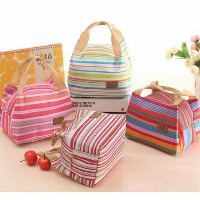 Cooler bag garis ijo