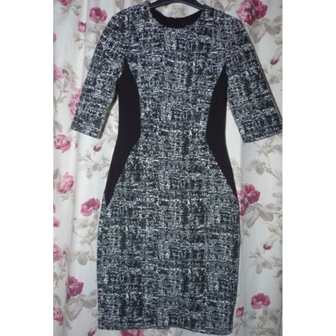 CUE CITY stretch splice dress size 6 in great condition