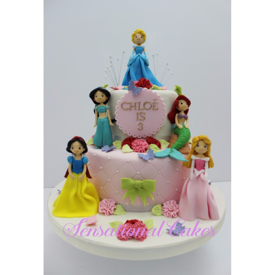 Cute Anime Princess 3d Cake Sugar Crafted Figurines Beauty And