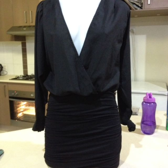Deep v tight dress