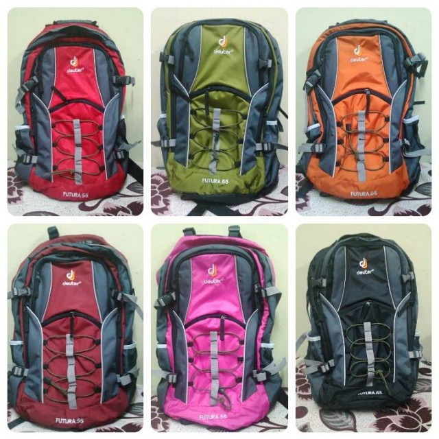 Deuter 55 l 55l Backpack beg bag back pack hiking posture support