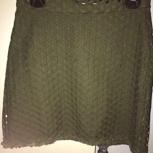Dissh Khaki Skirt