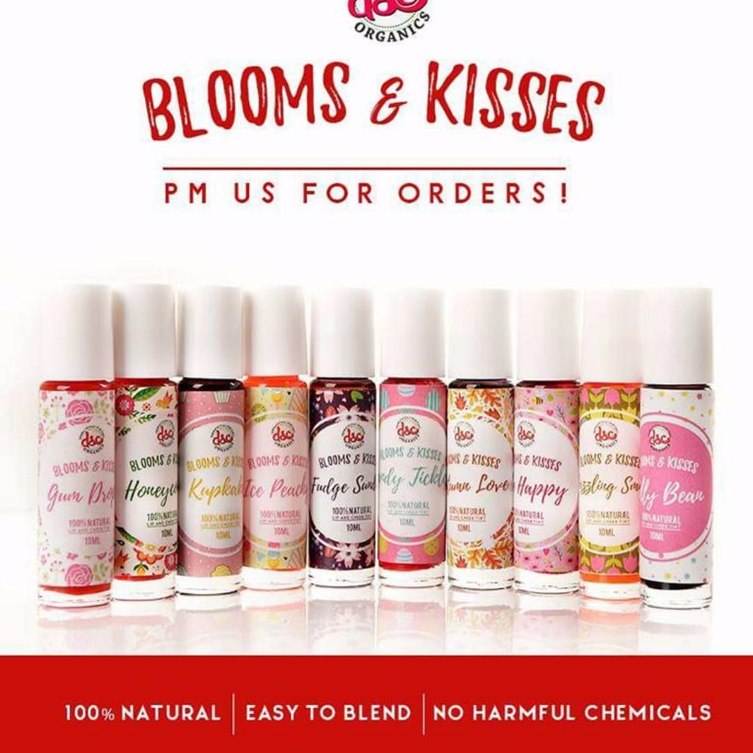 DSC ORGANICS  BLOOMS N KISSES Cheek Lip Tints