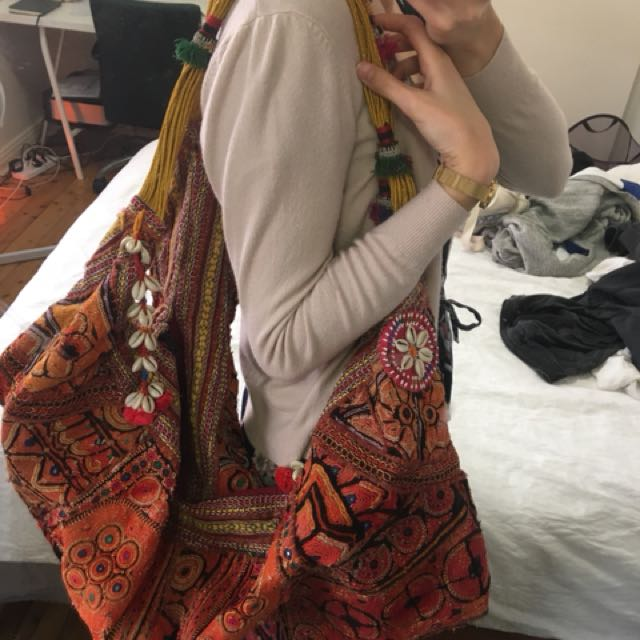 Embroidered overnight bag