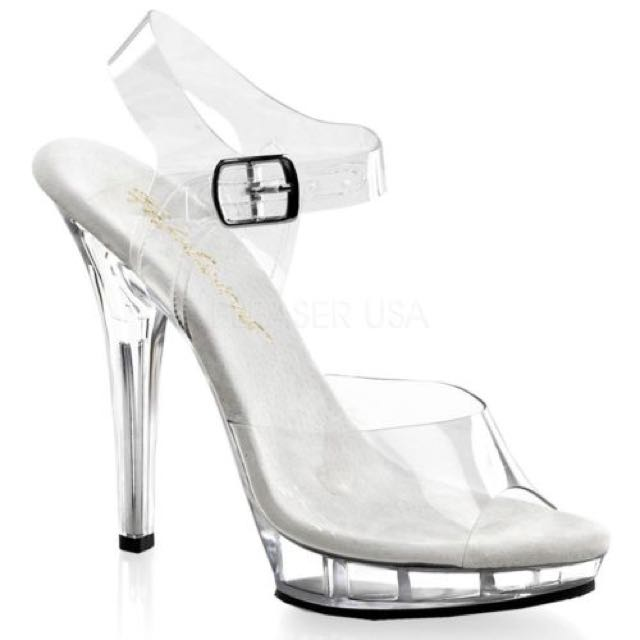 Fabulicious Clear Ankle Strap