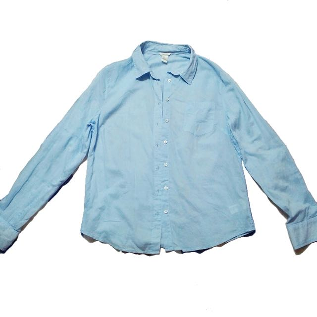 Forever 21 button-down shirt | Size on tag M *mej manipis tela