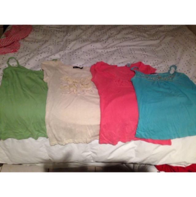Four shirts for $15! Jeans west, esprit, dotti