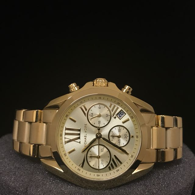 51f9defcc16c FREE DELIVERY  MICHAEL KORS BRADSHAW CHRONOGRAPH CHAMPAGNE DIAL GOLD ...