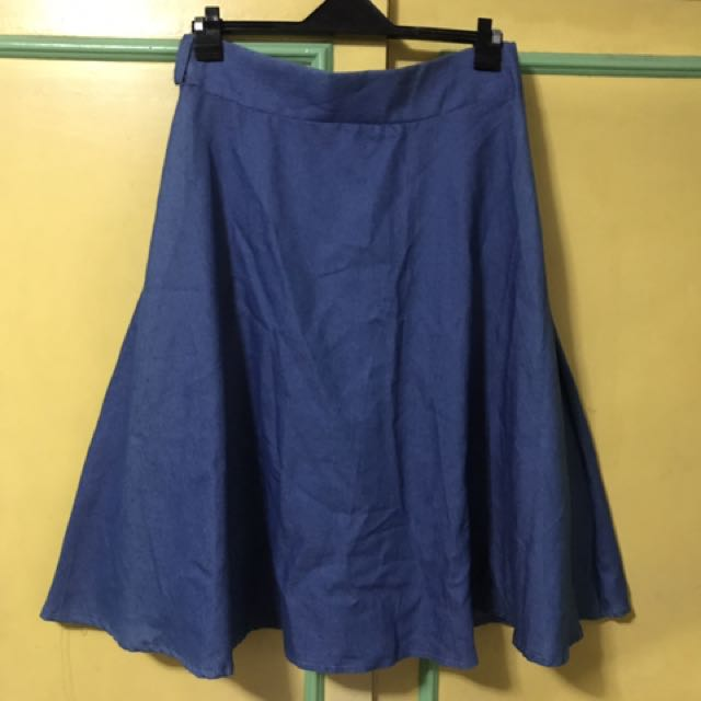 Freesize among denim skirt