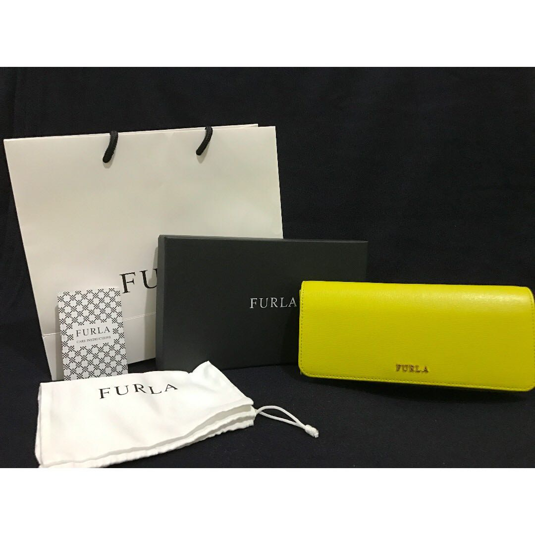 FURLA Babylon Bi-Fold wallet / jade-yellow