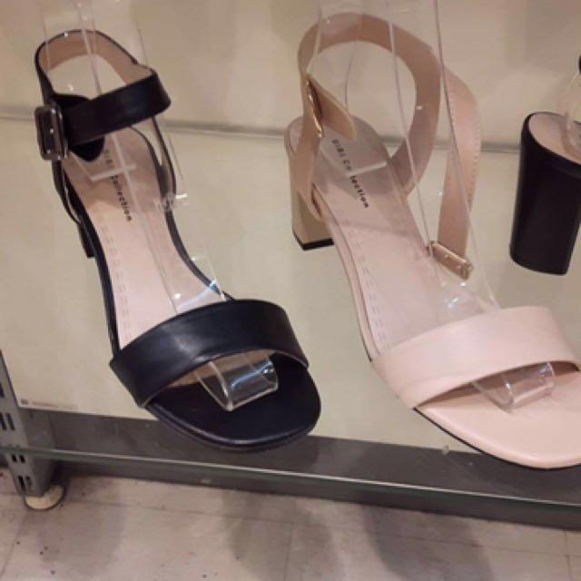 Gibi Black Strap Sandals
