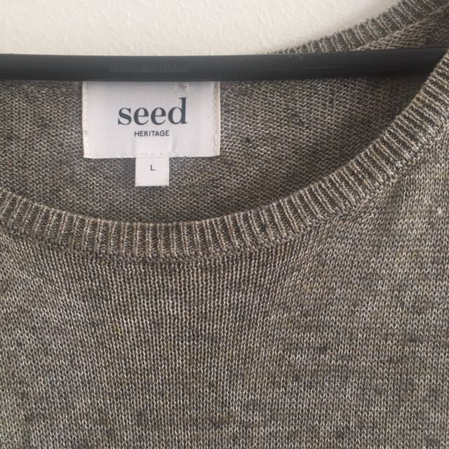 Gorgeous seed coffee colour knit dress