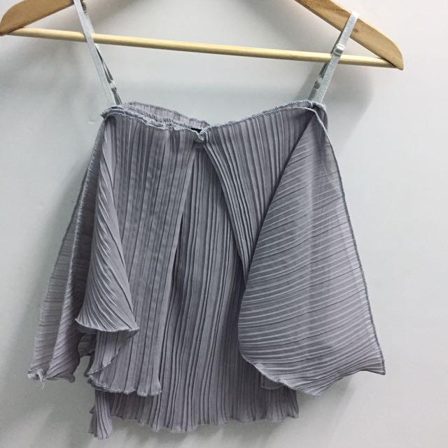 Grey top outerwear