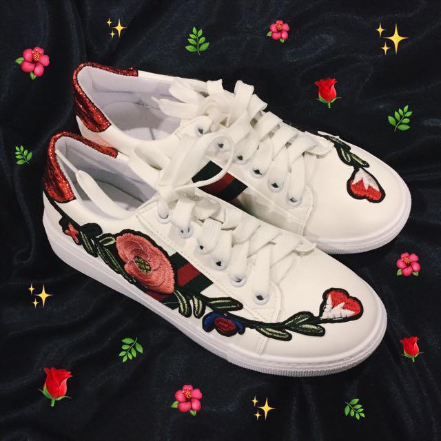 gucci replica floral embroidered