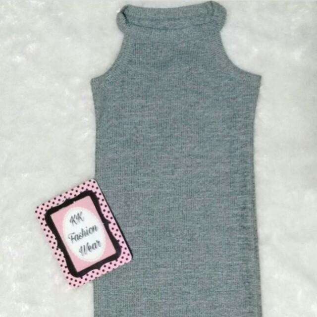 Halter knitted dress