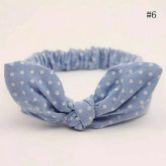 Headband polkadot blue