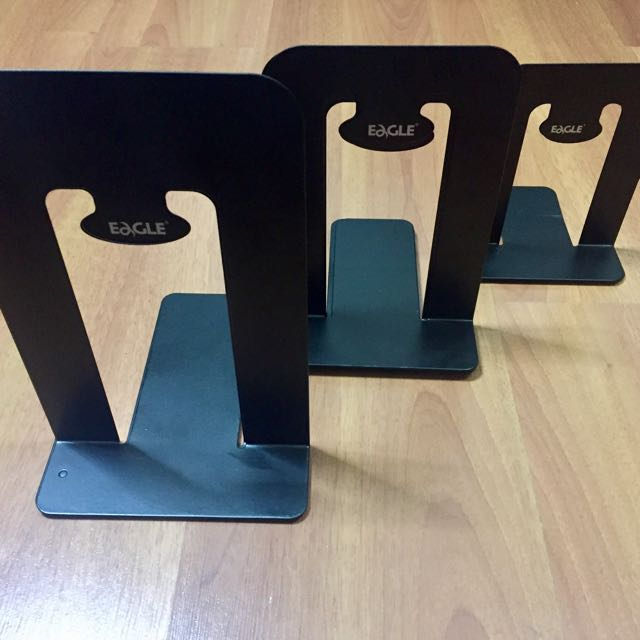 Heavy Duty Metal Book Ends (8 pieces)
