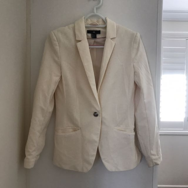 H&M blazer cream ladies