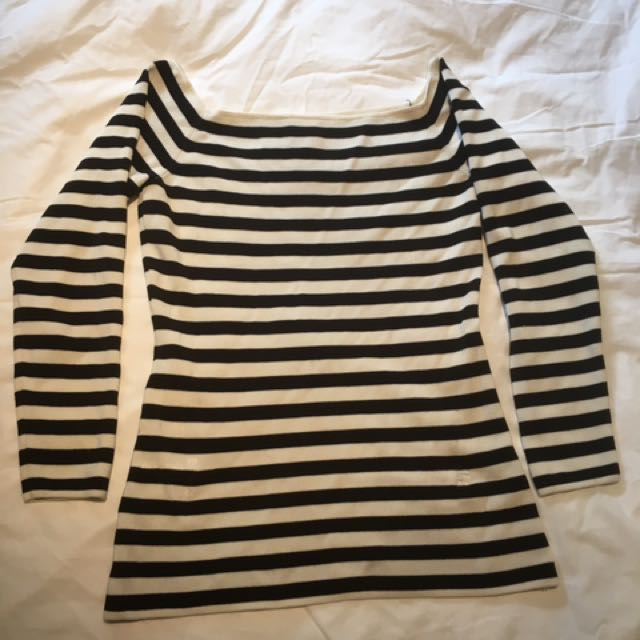 H&M striped off the shoulder top