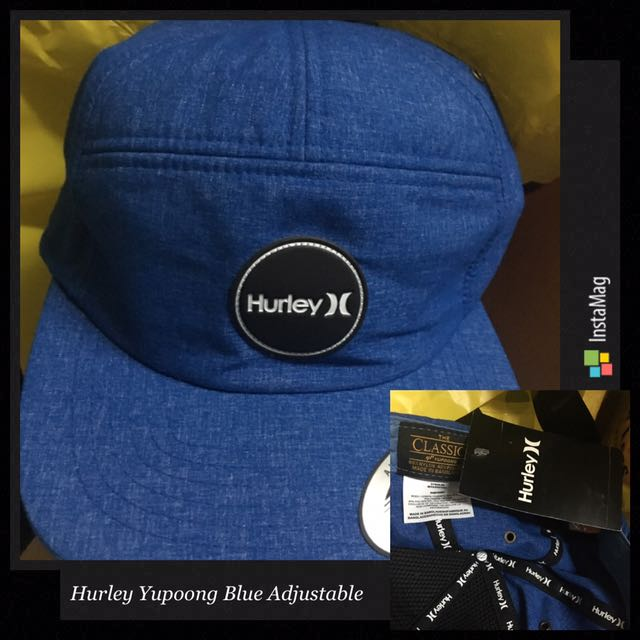 Hurley USA National Team Snapback Hat Cap AO2947 451 Obsidian BLUE Adjustable