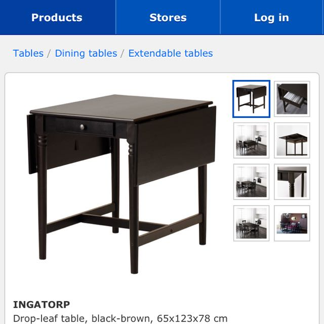 Ikea Ingatorp Drop Leaf Table Comes With Two Free Lerhamn Dining