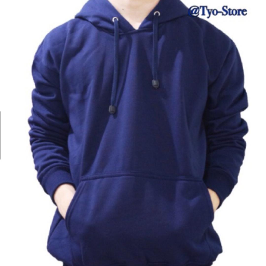 Jaket Polos Sweater Hoodie Jumper Polos Biru Dongker   Navy Jaket Pria    Jaket Wanita 17921d174d
