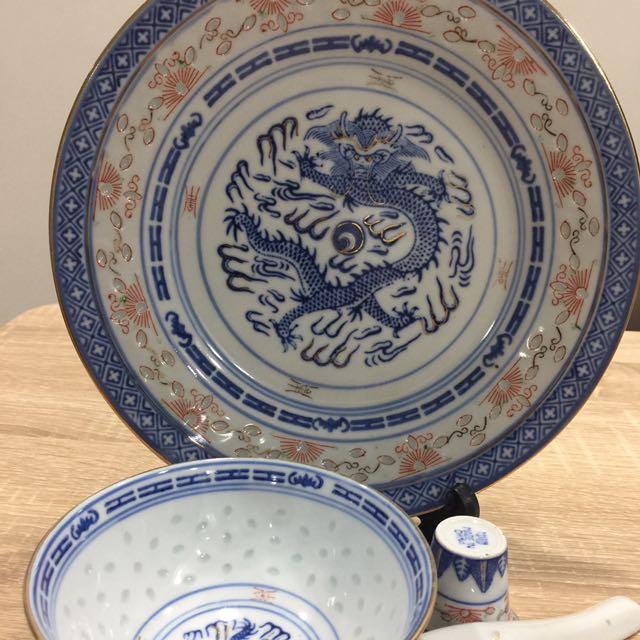 Jin de Zhen  china dragon Plate set Everything Else Others on Carousell & Jin de Zhen  china dragon Plate set Everything Else Others on ...
