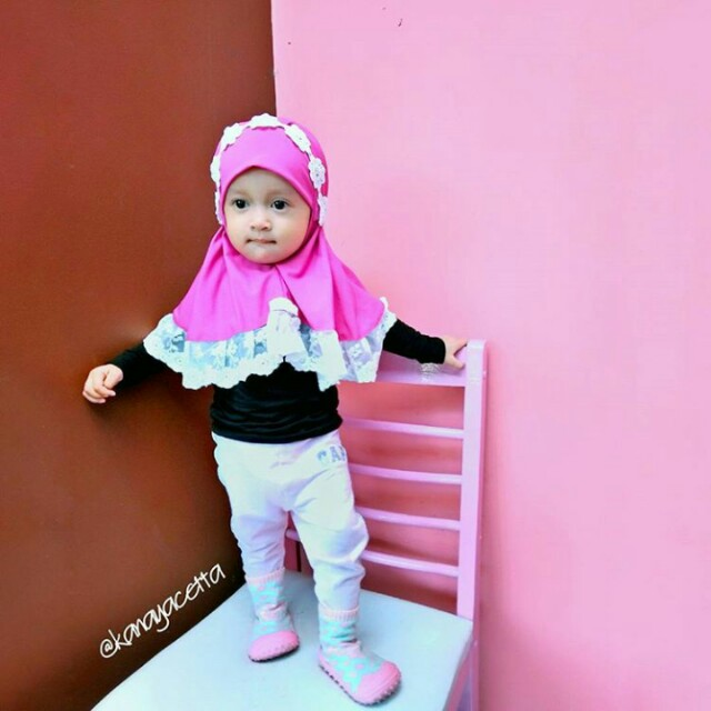 kerudung anak hijab anak merk mozre