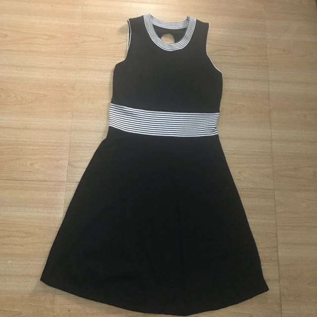 Knitted Black Skater Dress
