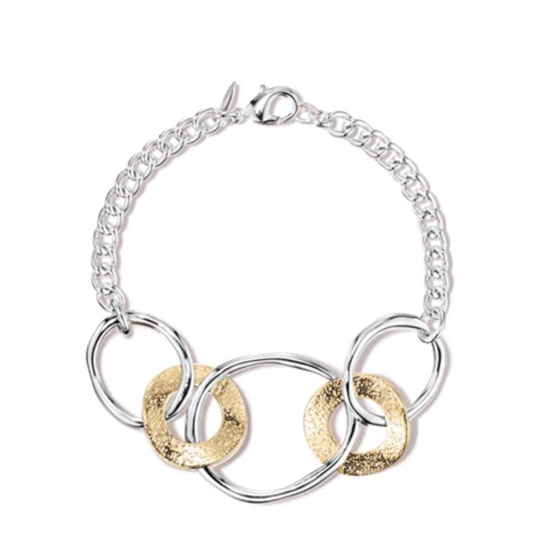Linked Together Two-Tone Bracelet