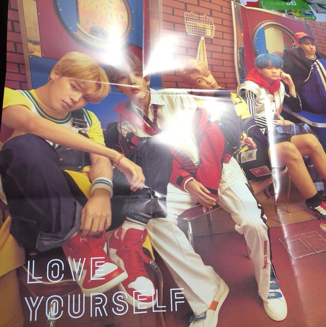 Love Yourself BTS folded Poster