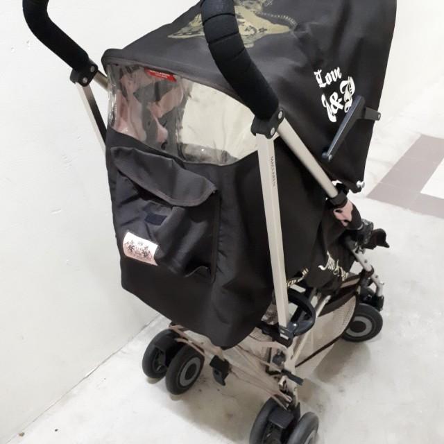 Maclaren Juicy Couture Brown Pink Single Seat Stroller Babies