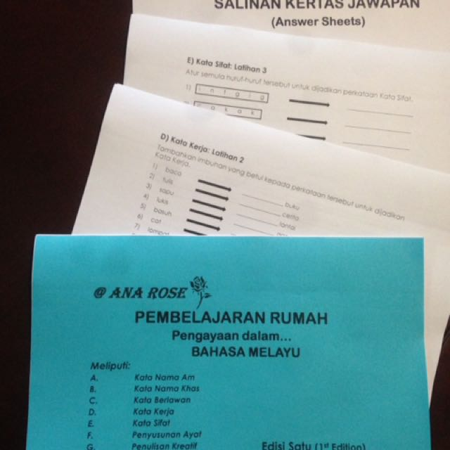 Malay Home Practice Worksheets for Primary 1 & 2, Books & Stationery ...