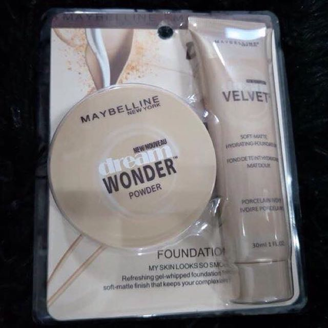 MAYBELINE dream velvet & dream wonder powder