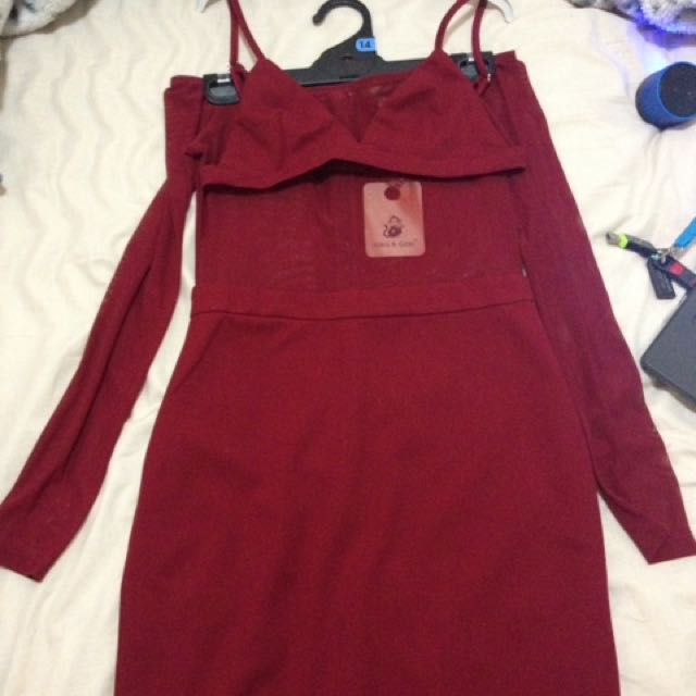 Mesh dress w/bra
