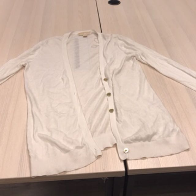 Michael Kors White Cardigan (with flaw)