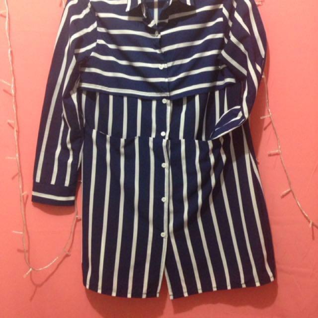 Navy Stripes Shirt