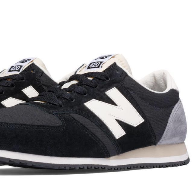 Balance 420 Black/White/Suede shoes (UK